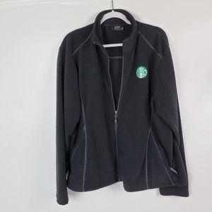 Starbucks Logo Fossa Warm Fleece Zip Up Jacket